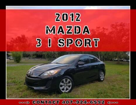 2012 Mazda MAZDA3 for sale at AFFORDABLE ONE LLC in Orlando FL