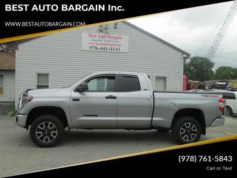 2019 Toyota Tundra for sale at BEST AUTO BARGAIN inc. in Lowell MA