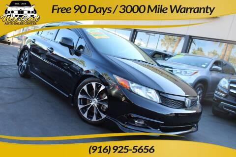 2012 Honda Civic for sale at West Coast Auto Sales Center in Sacramento CA