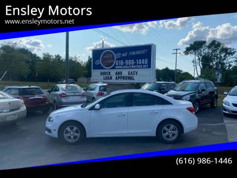 2015 Chevrolet Cruze for sale at Ensley Motors in Allendale MI
