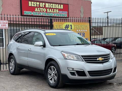 2015 Chevrolet Traverse for sale at Best of Michigan Auto Sales in Detroit MI