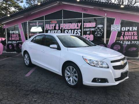 2013 Chevrolet Malibu for sale at Fast and Friendly Auto Sales LLC in Decatur GA