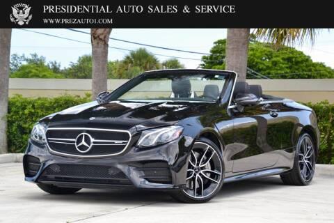 2020 Mercedes-Benz E-Class for sale at Presidential Auto  Sales & Service in Delray Beach FL