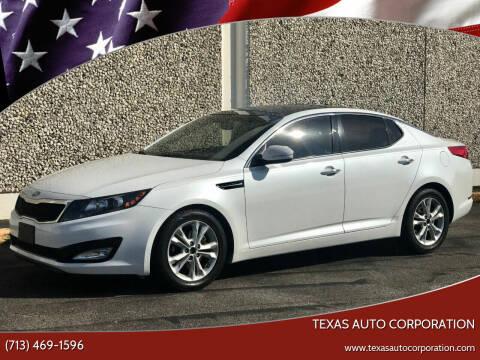 2013 Kia Optima for sale at Texas Auto Corporation in Houston TX
