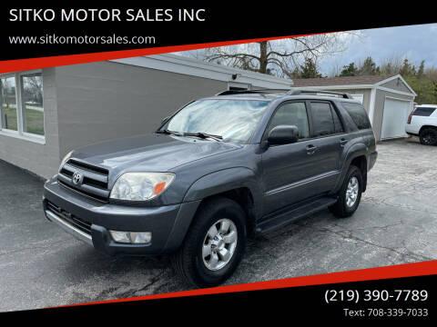 2004 Toyota 4Runner for sale at SITKO MOTOR SALES INC in Cedar Lake IN