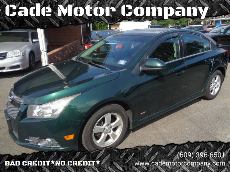 2014 Chevrolet Cruze for sale at Cade Motor Company in Lawrence Township NJ