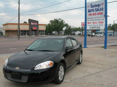 2012 Chevrolet Impala for sale at Springs Auto Sales in Colorado Springs CO