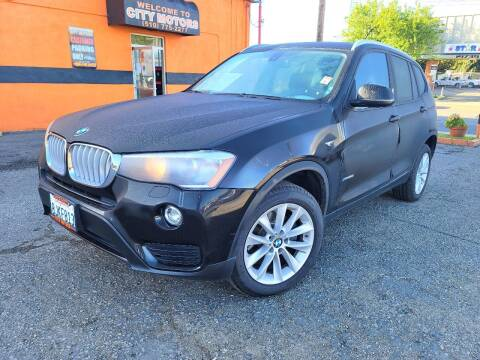 2017 BMW X3 for sale at City Motors in Hayward CA
