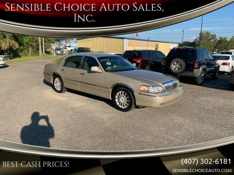 2006 Lincoln Town Car for sale at Sensible Choice Auto Sales, Inc. in Longwood FL