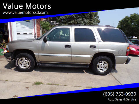 2002 Chevrolet Tahoe for sale at Value Motors in Watertown SD