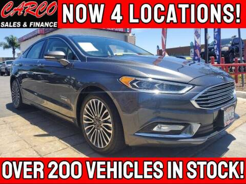 2018 Ford Fusion Energi for sale at CARCO SALES & FINANCE - CARCO OF POWAY in Poway CA