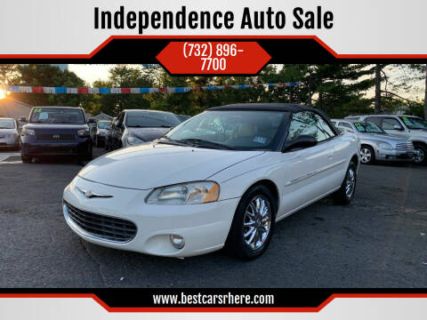 2002 Chrysler Sebring for sale at Independence Auto Sale in Bordentown NJ