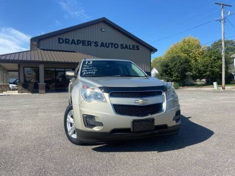 2013 Chevrolet Equinox for sale at Drapers Auto Sales in Peru IN