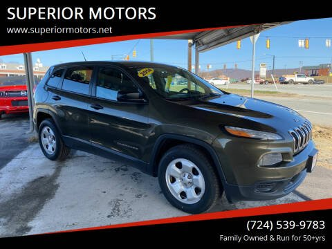2014 Jeep Cherokee for sale at SUPERIOR MOTORS in Latrobe PA