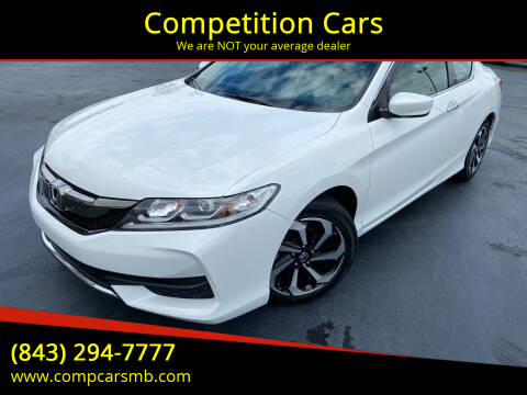 2016 Honda Accord for sale at Competition Cars in Myrtle Beach SC