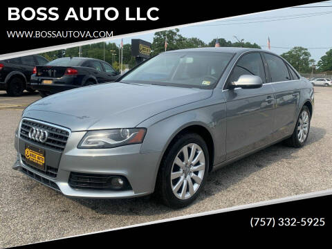 2010 Audi A4 for sale at BOSS AUTO LLC in Norfolk VA