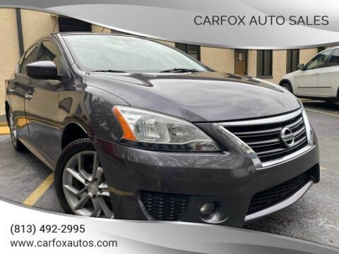 2014 Nissan Sentra for sale at Carfox Auto Sales in Tampa FL