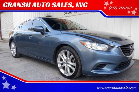 2014 Mazda MAZDA6 for sale at CRANSH AUTO SALES, INC in Arlington TX