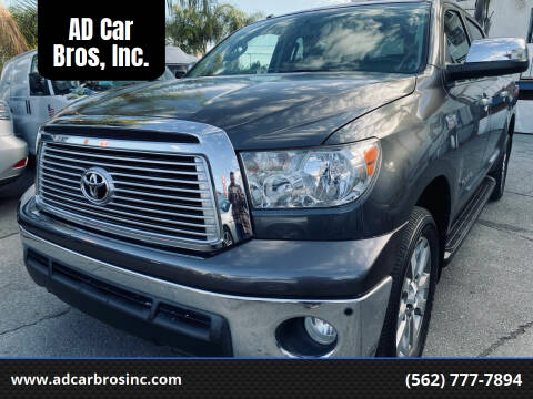 2011 Toyota Tundra for sale at AD Car Bros, Inc. in Whittier CA