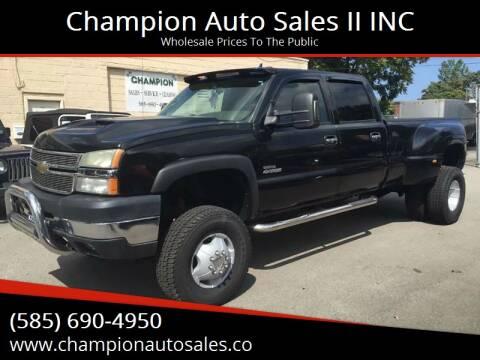 2006 Chevrolet Silverado 3500 for sale at Champion Auto Sales II INC in Rochester NY