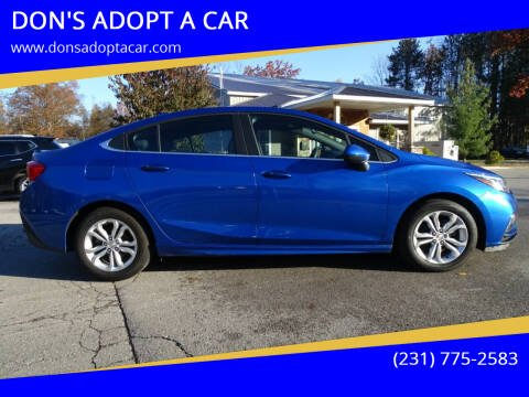 2018 Chevrolet Cruze for sale at DON'S ADOPT A CAR in Cadillac MI