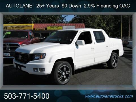 2013 Honda Ridgeline for sale at Auto Lane in Portland OR