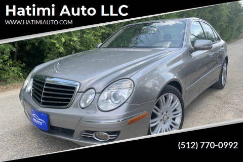 2008 Mercedes-Benz E-Class for sale at Hatimi Auto LLC in Buda TX