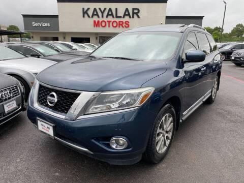2014 Nissan Pathfinder for sale at KAYALAR MOTORS in Houston TX