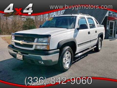 2004 Chevrolet Avalanche for sale at GT Motors, LLC in Elkin NC