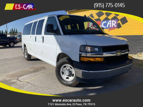 2017 Chevrolet Express Passenger for sale at Escar Auto - 9809 Montana Ave Lot in El Paso TX