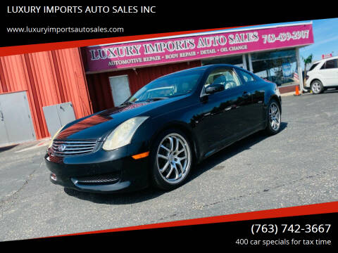 2006 Infiniti G35 for sale at LUXURY IMPORTS AUTO SALES INC in North Branch MN