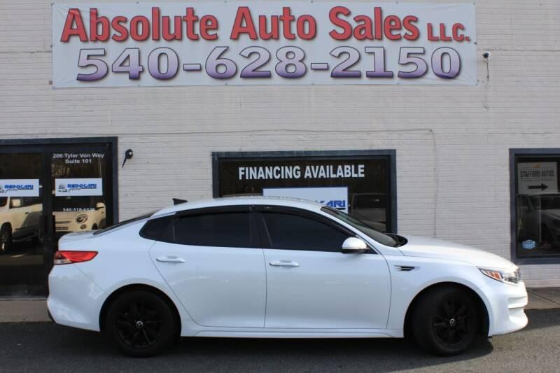 2016 Kia Optima for sale at Absolute Auto Sales in Fredericksburg VA