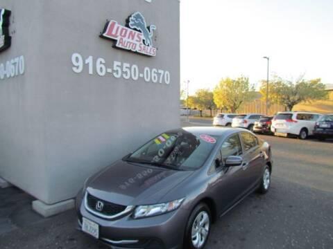 2014 Honda Civic for sale at LIONS AUTO SALES in Sacramento CA