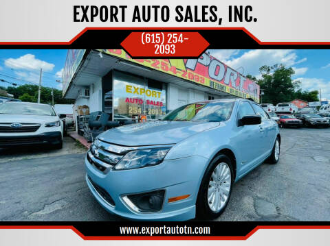2010 Ford Fusion Hybrid for sale at EXPORT AUTO SALES, INC. in Nashville TN