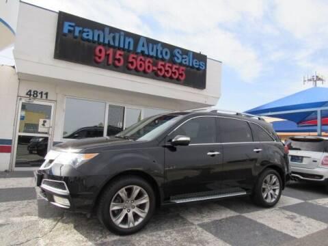 2012 Acura MDX for sale at Franklin Auto Sales in El Paso TX