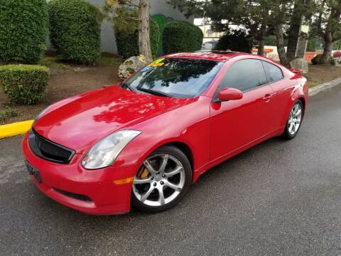 2004 Infiniti G35 for sale at SS MOTORS LLC in Edmonds WA