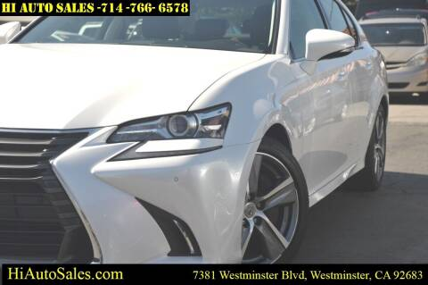 2017 Lexus GS 350 for sale at Hi Auto Sales in Westminster CA