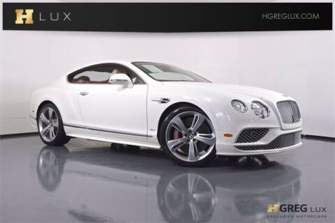 2016 Bentley Continental for sale at HGREG LUX EXCLUSIVE MOTORCARS in Pompano Beach FL