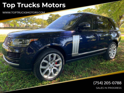 2016 Land Rover Range Rover for sale at Top Trucks Motors in Pompano Beach FL