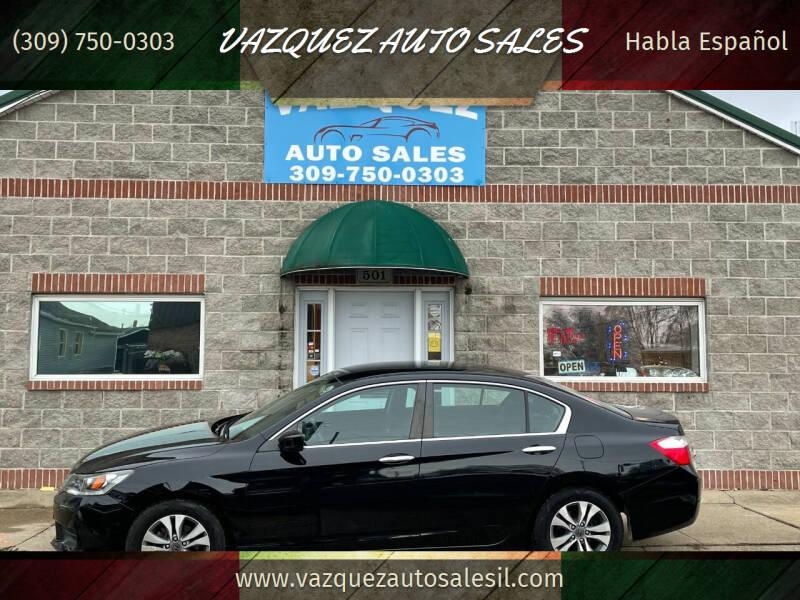 2015 Honda Accord for sale at VAZQUEZ AUTO SALES in Bloomington IL