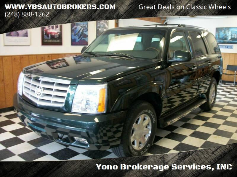 2002 Cadillac Escalade for sale at Yono Brokerage Services, INC in Farmington MI