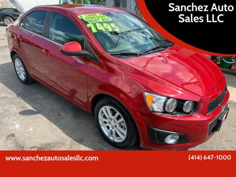 2015 Chevrolet Sonic for sale at Sanchez Auto Sales LLC in Milwaukee WI