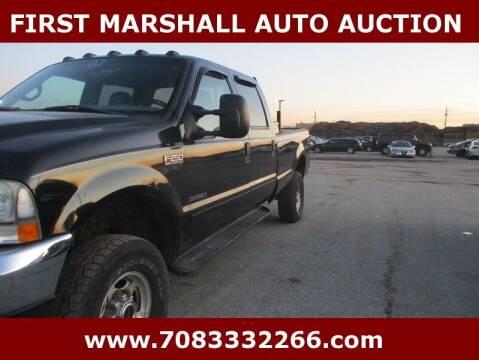 2002 Ford F-250 Super Duty for sale at First Marshall Auto Auction in Harvey IL