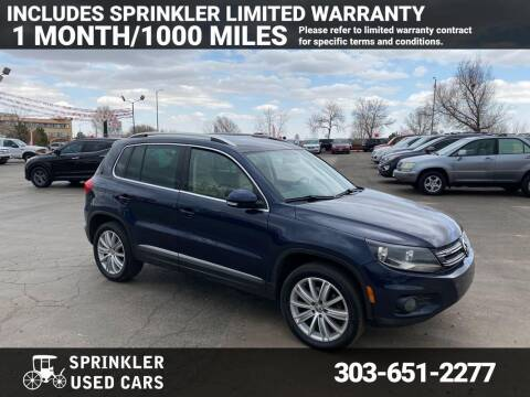 2013 Volkswagen Tiguan for sale at Sprinkler Used Cars in Longmont CO