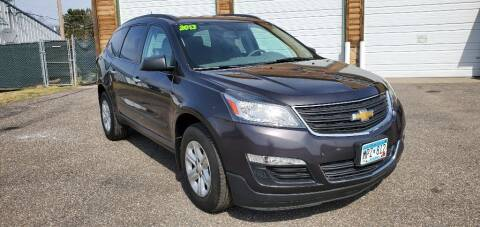 2013 Chevrolet Traverse for sale at Transmart Autos in Zimmerman MN