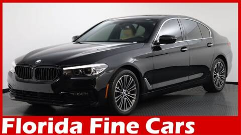 2018 BMW 5 Series for sale at Florida Fine Cars - West Palm Beach in West Palm Beach FL