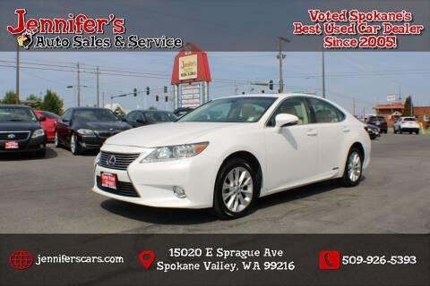 2015 Lexus ES 300h for sale at Jennifer's Auto Sales in Spokane Valley WA