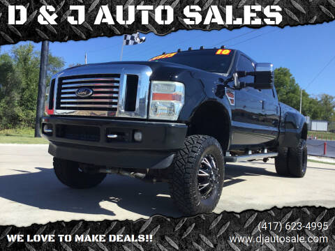 2010 Ford F-350 Super Duty for sale at D & J AUTO SALES in Joplin MO