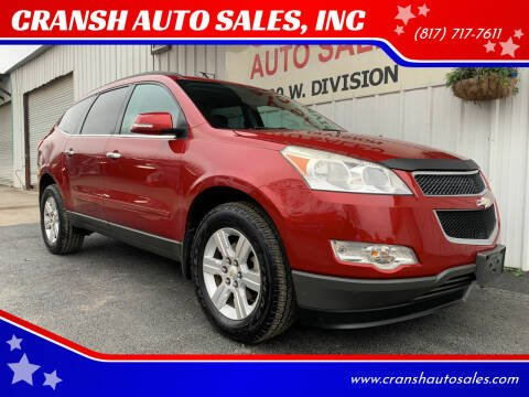 2012 Chevrolet Traverse for sale at CRANSH AUTO SALES, INC in Arlington TX