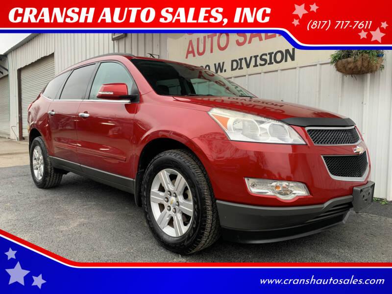 2012 Chevrolet Traverse for sale at CRANSH AUTO SALES, INC in Arlington TX